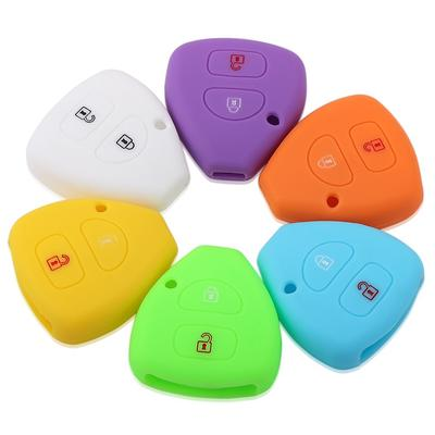 2 Button Silicone Key Cover Case Fob Shell Fit TOYOTA