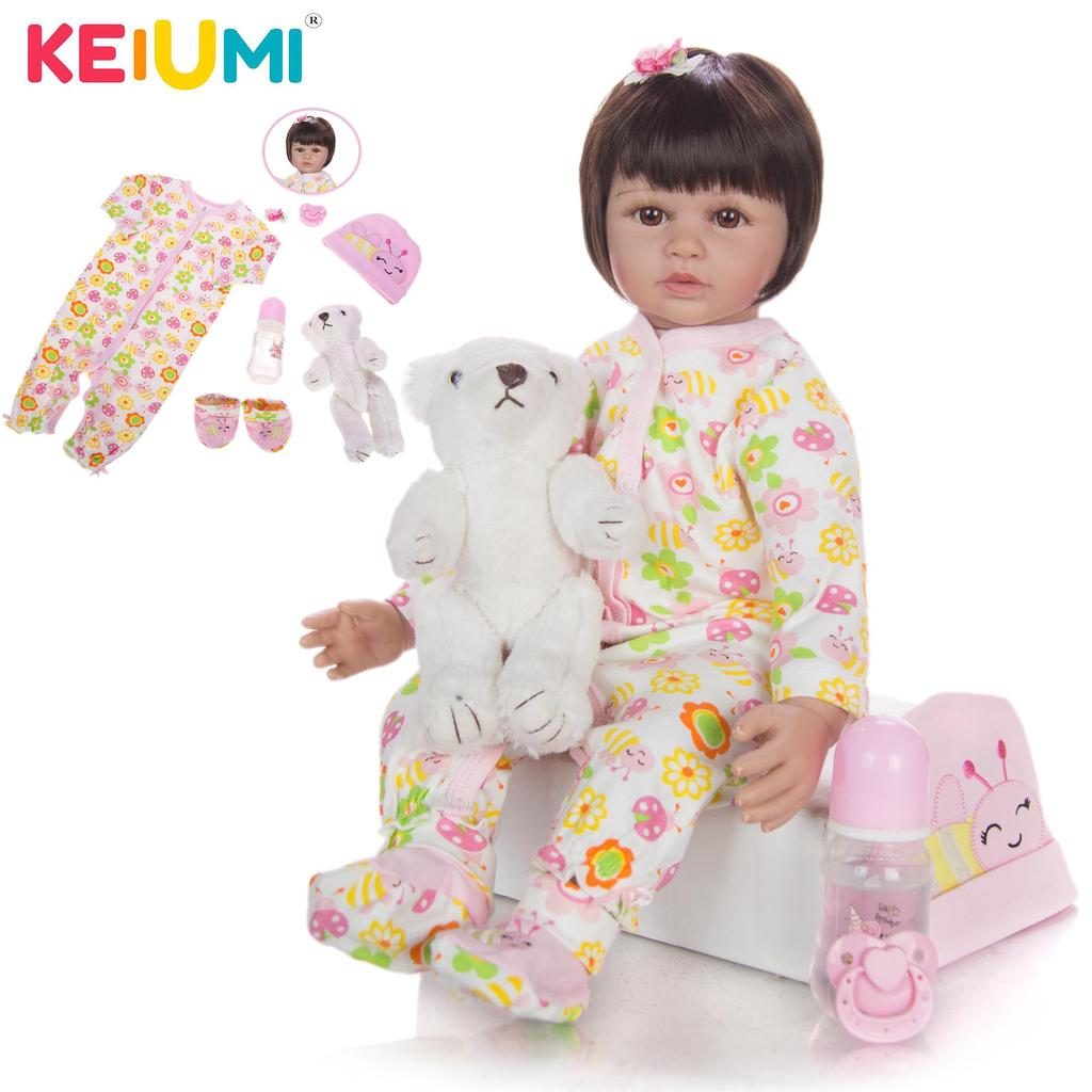 Buy Keiumi 24 Inch Princess Reborn Baby Dolls For Girl Fashion True To Life Soft Silicone Gold Curls Hair Reborn Dolls For Kid Gift At Affordable Prices Price 59 Usd Free