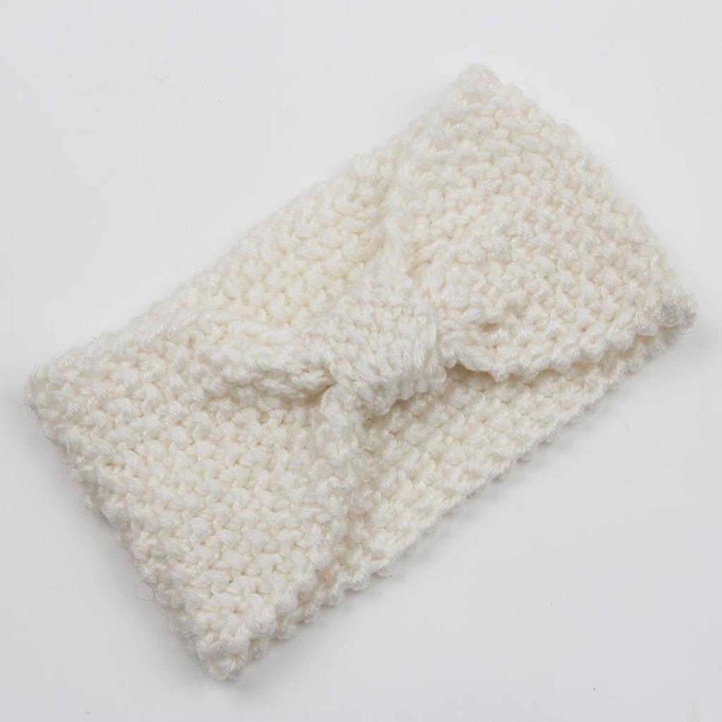 Sólido ancho tejer diadema de lana invierno caliente oído ganchillo ...