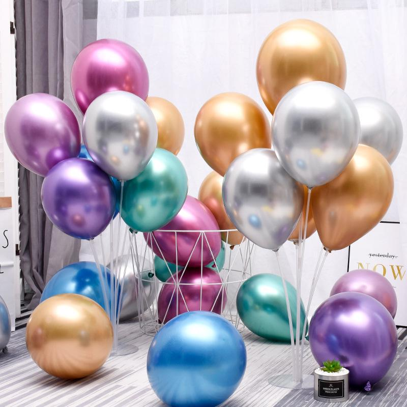 "5/"" inch Metallic Pearl Chrome Latex Ballons for Wedding Birthday Party 10-50 PC"