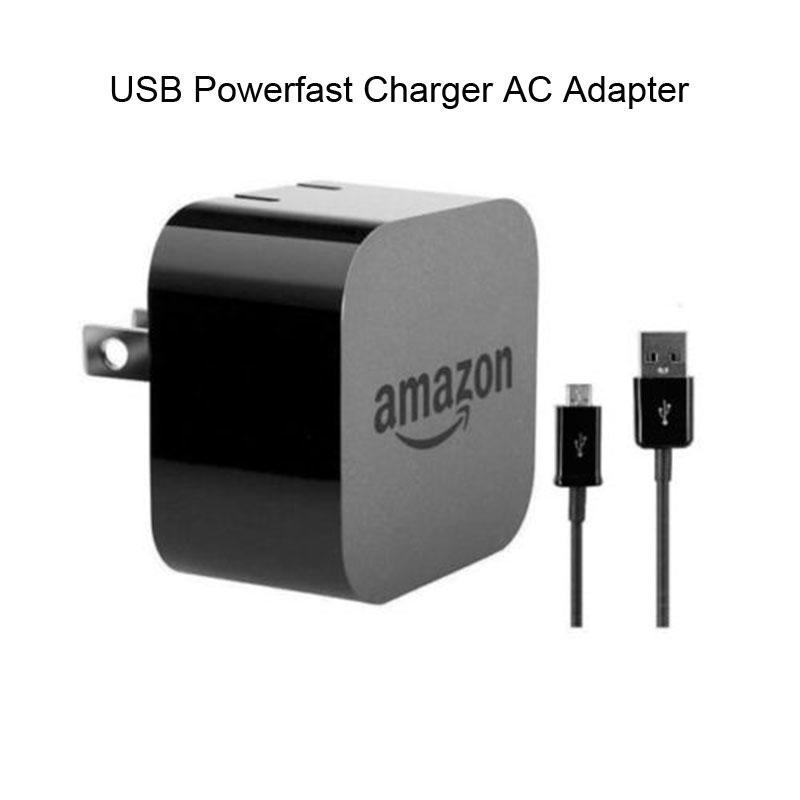 Amazon Kindle Fire HD 9W Powerfast AC USB Adapter Wall Charger Micro USB Cable