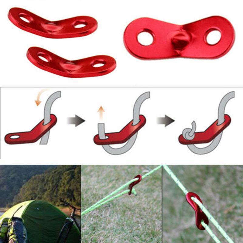 10Pcs 5mm Camping Guyline Stopper Tent Rope Lock Fastener Canopy String Runner