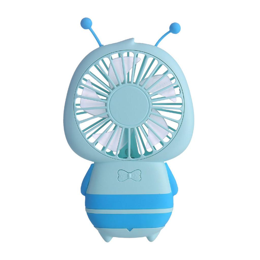 Portable Mini USB Fan with Seven-Leaf Design Hangable Low Noise 2 Speeds Handheld Personal Fan for Student and Dorm Room and Home,Pink,Pink