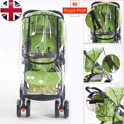 Quality Universal Buggy Pushchair Stroller Pram Transparent Rain Cover Baby