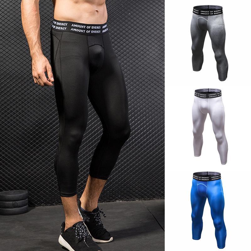 Men Slim Fit Pants Skinny Thermal Thin Trousers Sports Athletic Fitness Leggings
