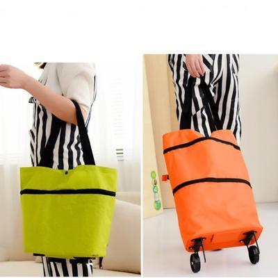 Pliage Shopping Trolley panier sac bagages à roulettes voyage portable léger