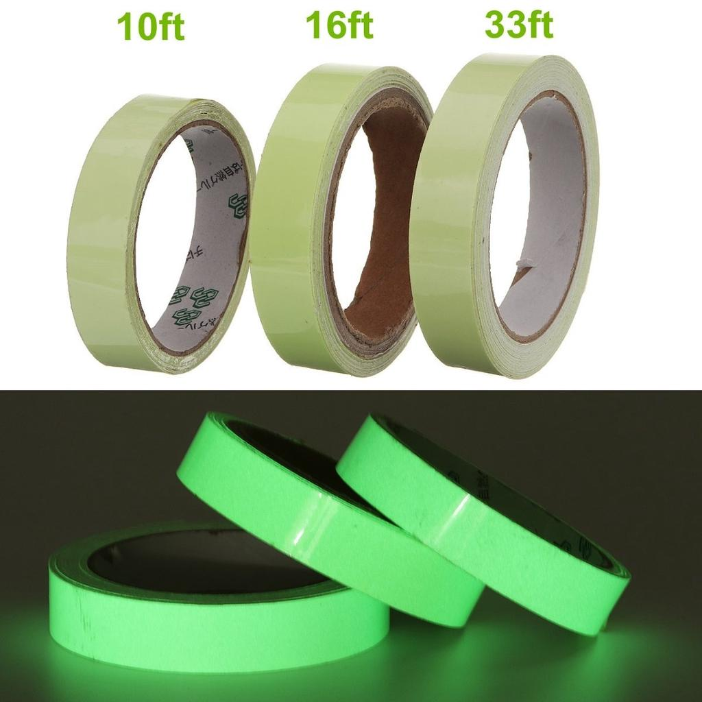 Glow In The Dark Sticky Tape Self Adhesive Luminous Saftey Film Sticker Roll