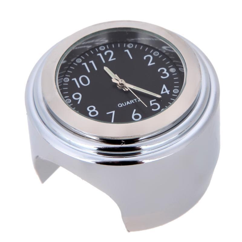 63338cfa6 7/8 cromo universal moto manillar impermeable Monte Negro Dial reloj ...