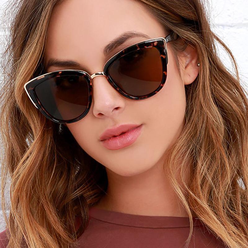 UK/_ UV400 Round Cat Eye Sunglasses Polarized Lenses Vintage Retro Women Ladies G
