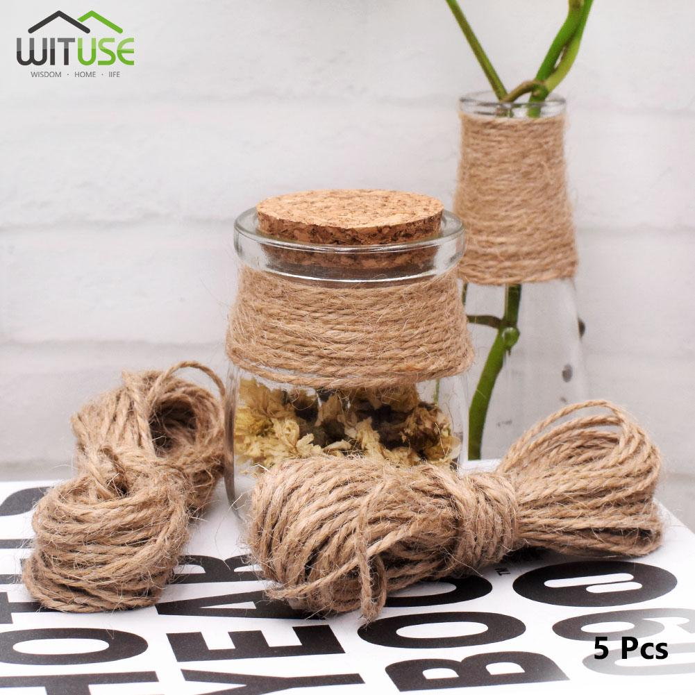 10m Burlap Rope Lace Ribbon DIY Craft Jute Twine Cord Wedding Party Home Decor