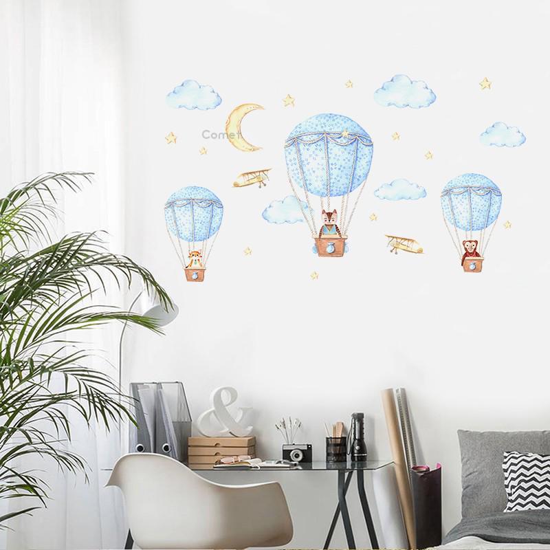 Details about  /Hot Air Balloon Cloud Cartoon Home Kids Room Wall Sticker Vinyl Art Decal Decors