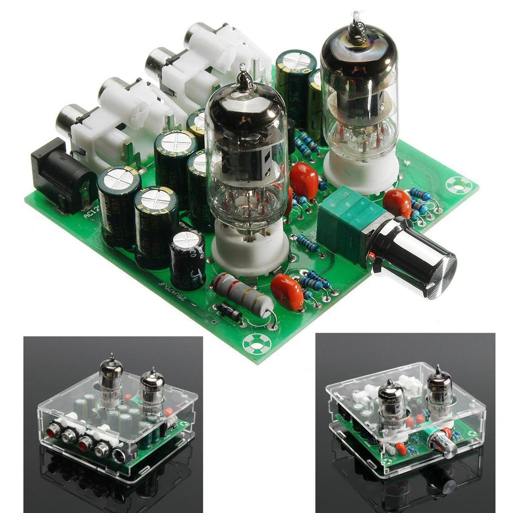 Tube preamp amplifier board c 12V 6j1 valve pre-amp tube preamplifier board  headphone buffer case