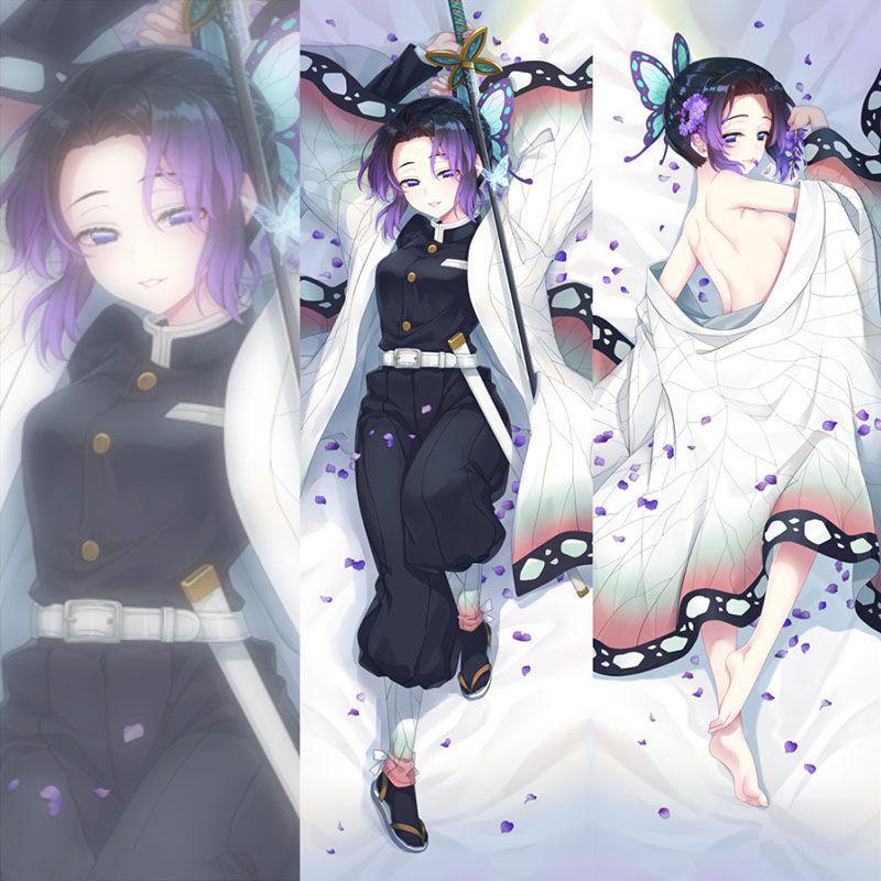 Demon Slayer Anime Kochou Shinobu  Dakimakura Hugging Body Pillow Case #H67