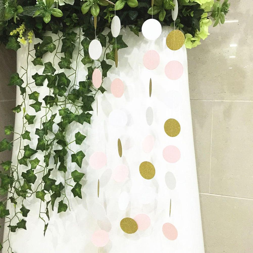 Pack of 3pcs Plastic Sequins String Banner for Wedding Party Decoration