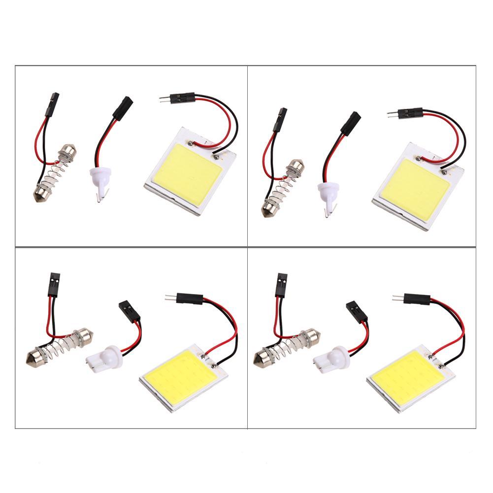 2pcs Xenon HID White24 COB LED Dome Map Light Bulb Car Interior Panel Lamp Light