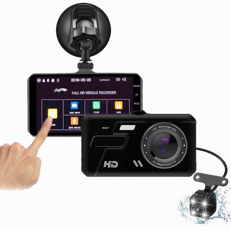 Супер HD 1080P 5 миллионов пикселей 4 дюймовый двойной объектив сенсорный экран вождения Recorder Starlight Ночное зрение спереди и сзади широкоугольный двойной объектив видео – купить по низким ценам в интернет-магазине Joom