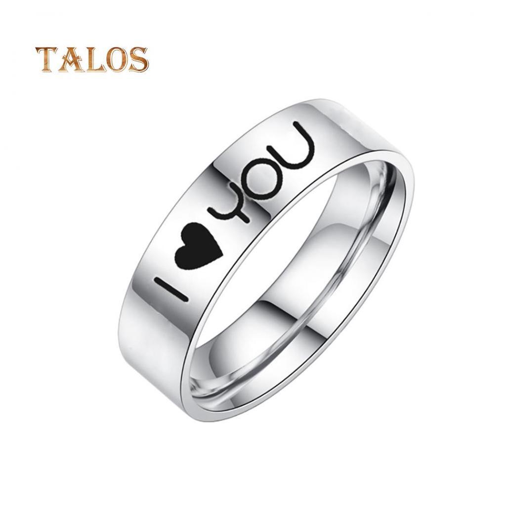 Hommes Femmes Rainbow Coloré anneau en acier inoxydable large Doigt Band couple anneaux
