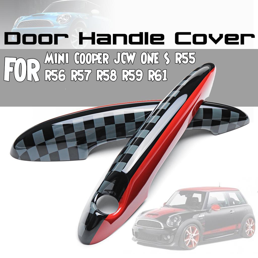 2 pezzi rivestimento per maniglia per porta interna Coperchio della maniglia della porta interna Adesivo per maniglia interna per Cooper R55 R56 Adesivo per maniglia per porta R60