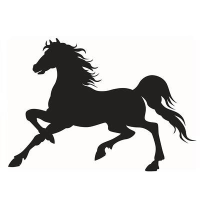 Clest Horse Banksy Wall Stickers Naklejki Scienne Wall Tattoos