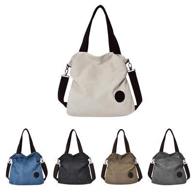 3fcaeeac9e MagiDeal Fashion Women Travel Shopping Bag Canvas Large Capacity Shoulder  Bag Tote Handbag