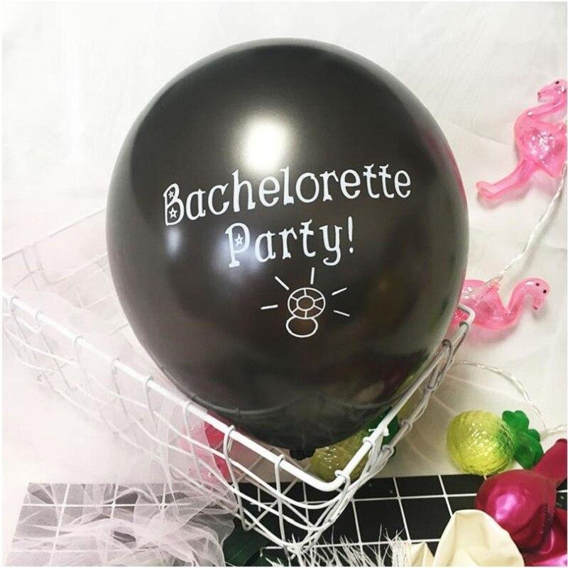 Balloons 10pcs//set Bachelorette Party Forever Letter Latex Birthday Wedding Cute