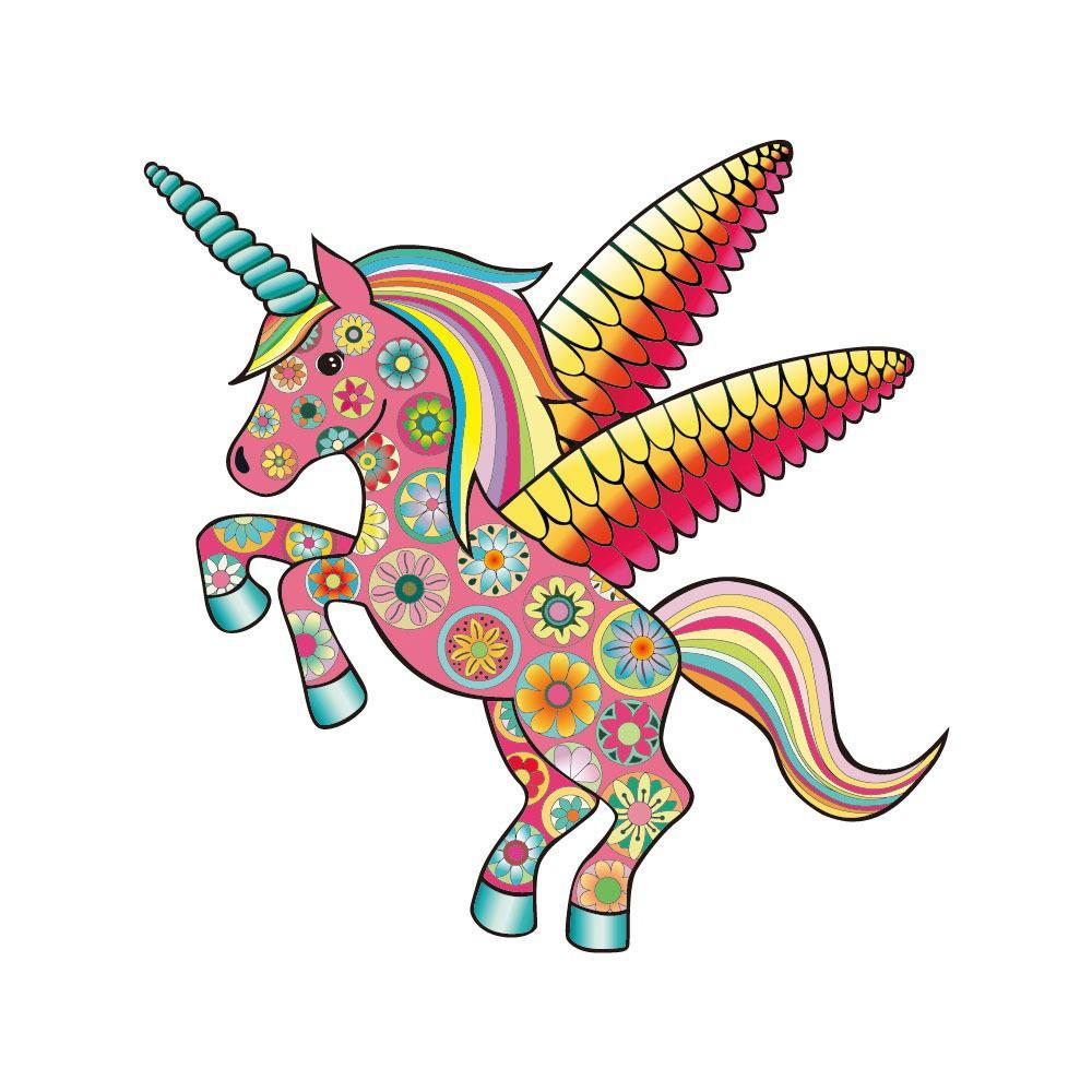 Colorat Unicorn Auto Laptop Autocolant Usa Fereastra Decal Amuzant Cal Masina Corpul Decor