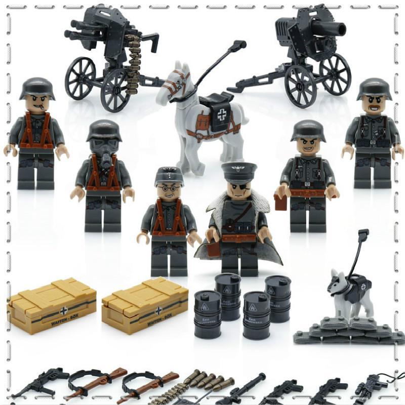 10PCS Sandbag Army Weapons Military Model Building Kits Bricks Block DIY