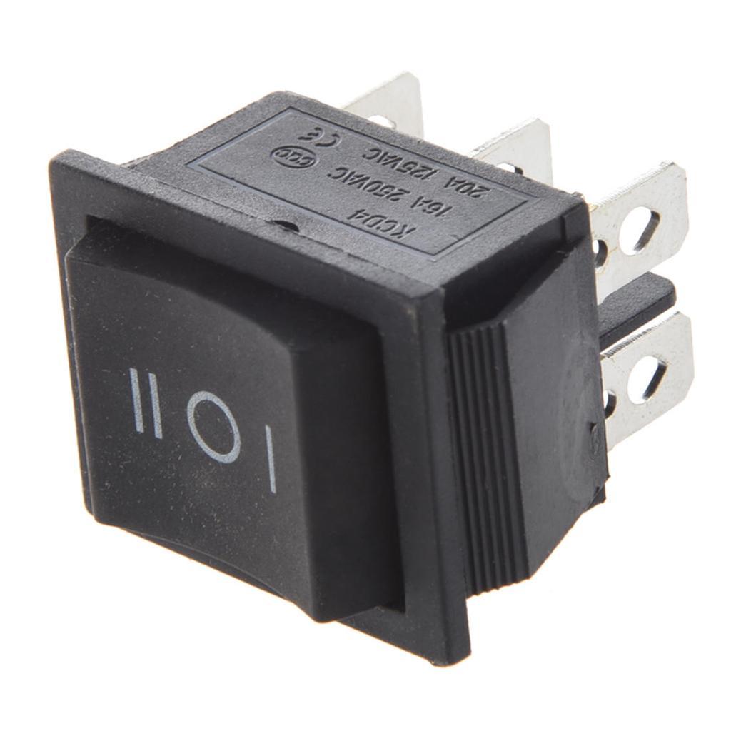 6-Terminals 3 Position ON/OFF/ON DPDT Boot Rocker Schalter 16A ...