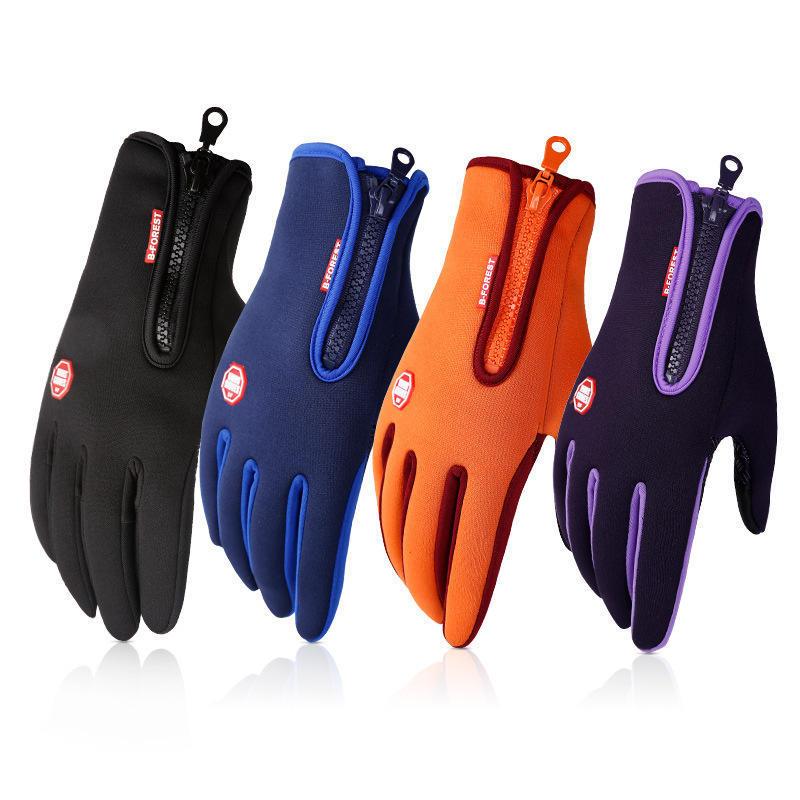Вітрозахисний їзда спорту тепло взимку руно на лижах відкритий водонепроникні сенсорний екран рукавички чоловіків