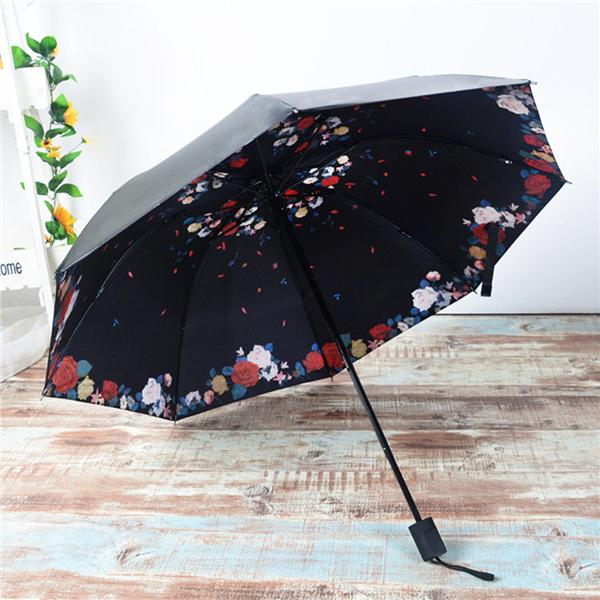 Sun Rain Manual Folding Umbrella Windproof Telescopic Lightweight