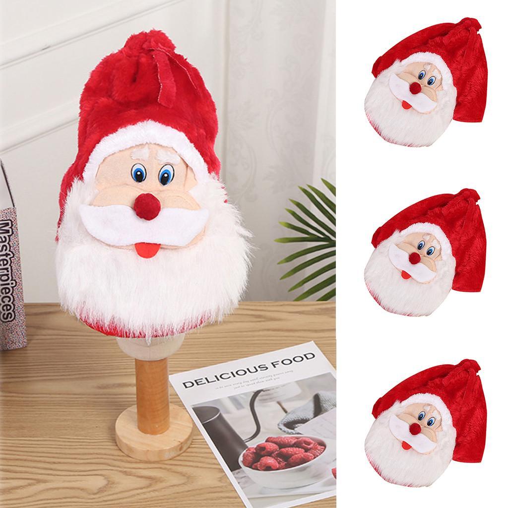 Christmas Slap Bracelets Cartoons Snap Bracelet Wrist Band Santa Claus Elk Xmas Party Favors for Kids,4 Pcs