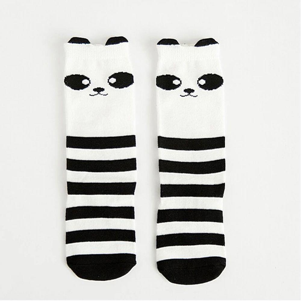 Panda Pattern For Age 1-4 Years Baby Kids Toddlers Knee High Socks Tights