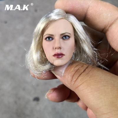 """1:6 Scarlett Johansson Black Widow Head Model For 12/"""" HT Phicen Female Body Toy"""