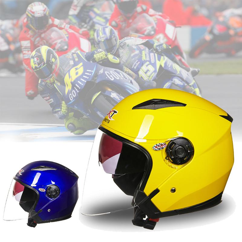 OBK PU Leather Helmets Retro Motorcycle 3//4 Goggle Mask Helmet Open Face
