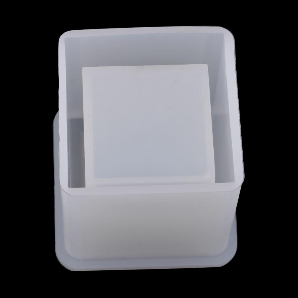 DIY Silicone Cake Mold Brush Pot For Resin Jewelry Making Crafts Moulds Tool