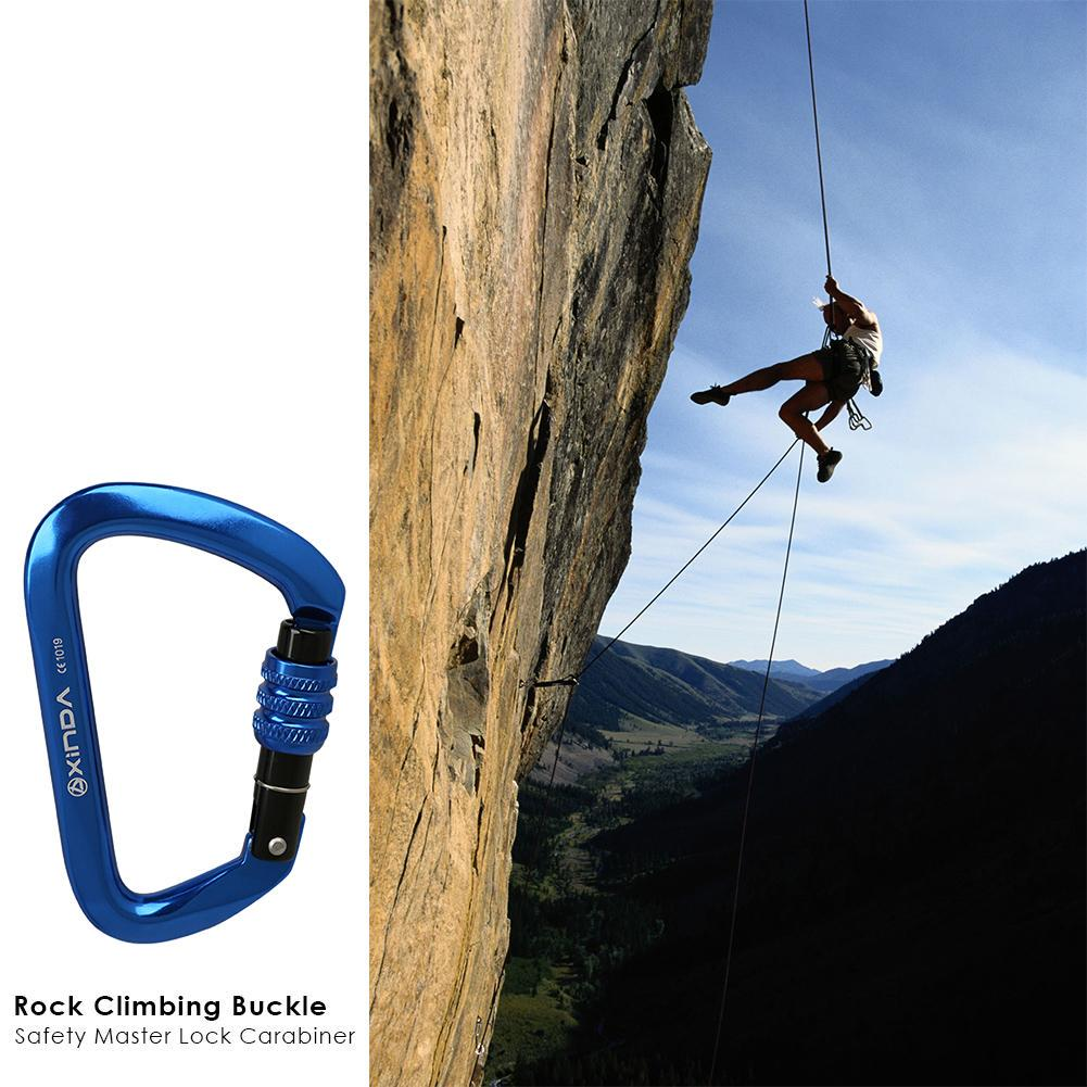 28KN Safety Outdoor Mountaineering Rock Climbing Carabiner Rescue Equip