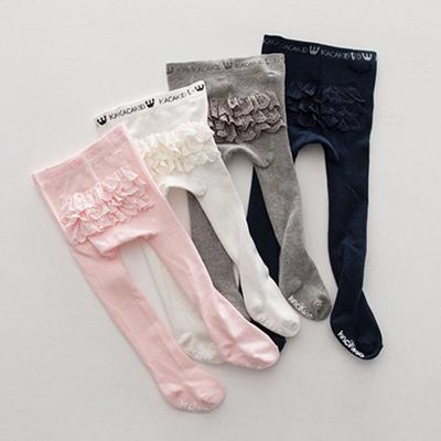 5ccab597f Lace Baby Pantyhose Cotton Tights Infant Stocking Baby Girl Tights PP Bottom