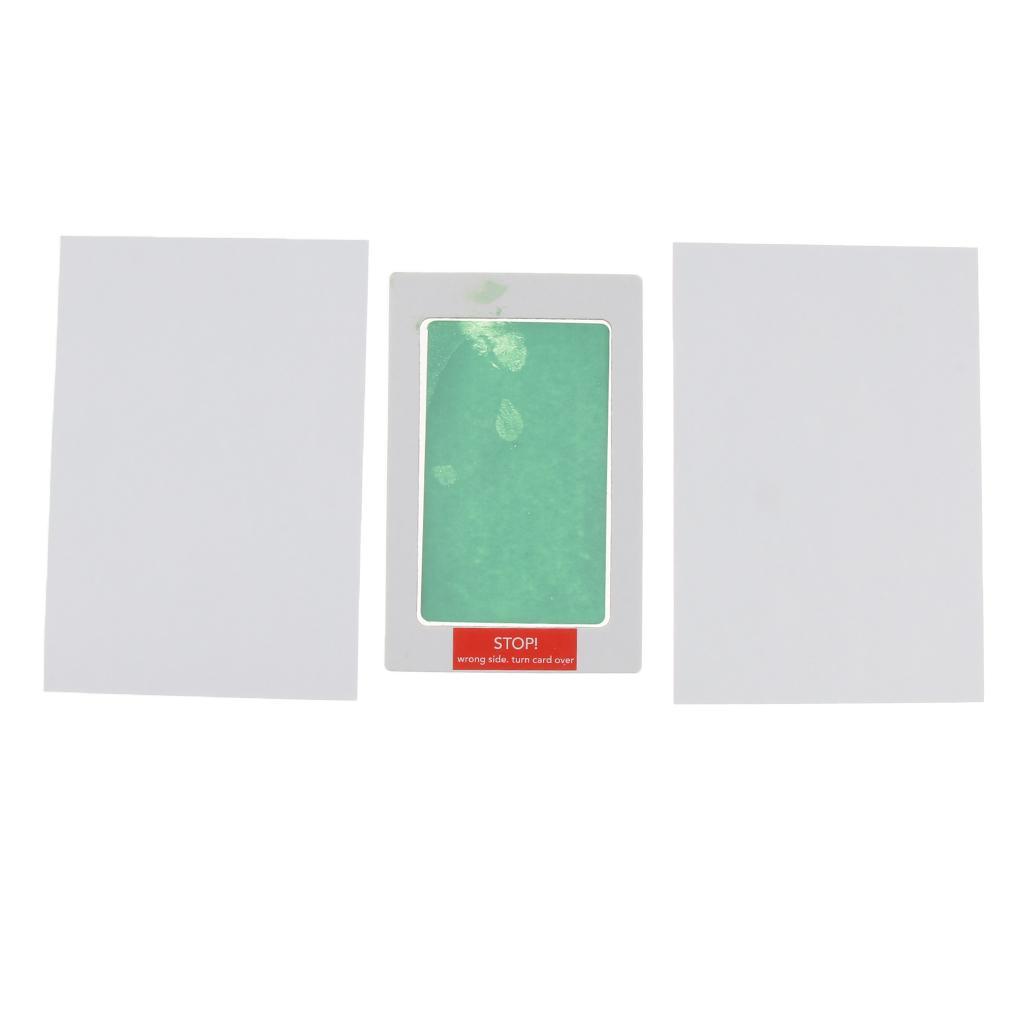 No-Mess Ink Baby Footprint Handprint Ink Pad Safe and Non-Toxic Ink Green