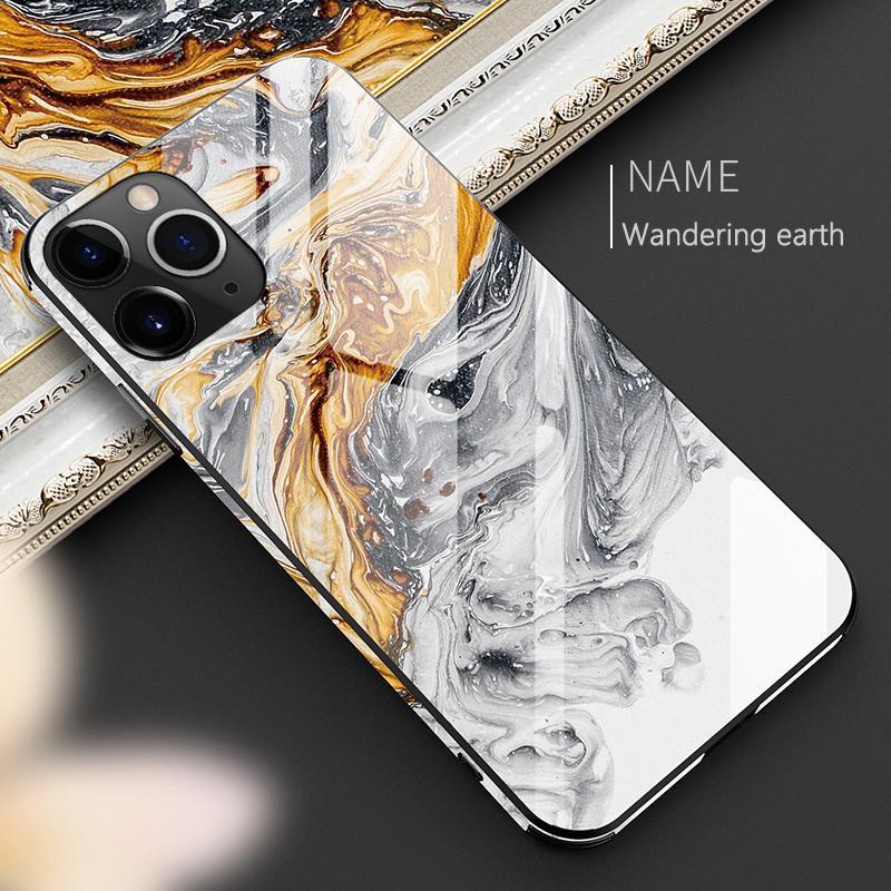 Мрамор Закаленное стекло Телефон Чедобыча iPhone 11 Pro XS XR Макс 8 7 6s PLUS SE 2020 Ultra Тонкий Полный Обложка