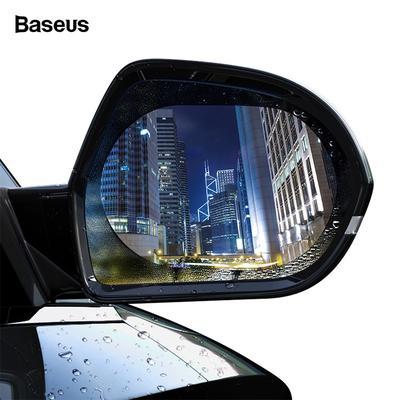 2Pcs Car Rearview Mirror Rain Film Side Window Film Reversing Mirror Full Screen Anti-Fog Nano Waterproof Film