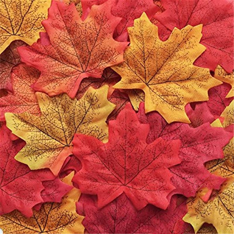 50 шт. декоративных листьев клена для скрапбукинга фото