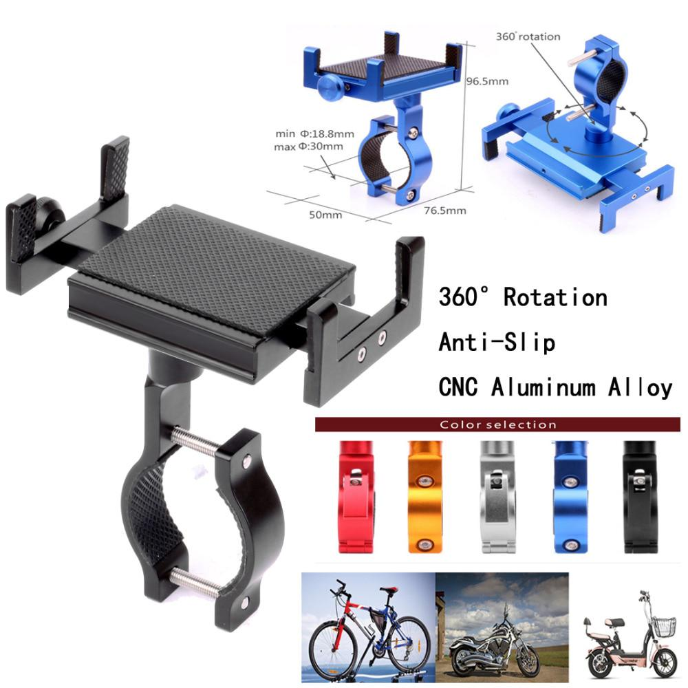 Bike Mobile Phone Holder Stand Aluminum Alloy Bicycle Bracket Anti-slip AR UK