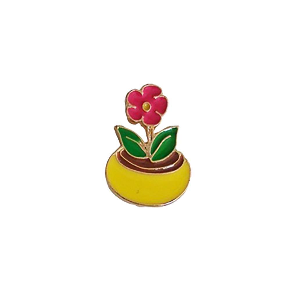 Cute Cactus Lotus Flower Grass Aloe Vera Potted Plant Badge Corsage