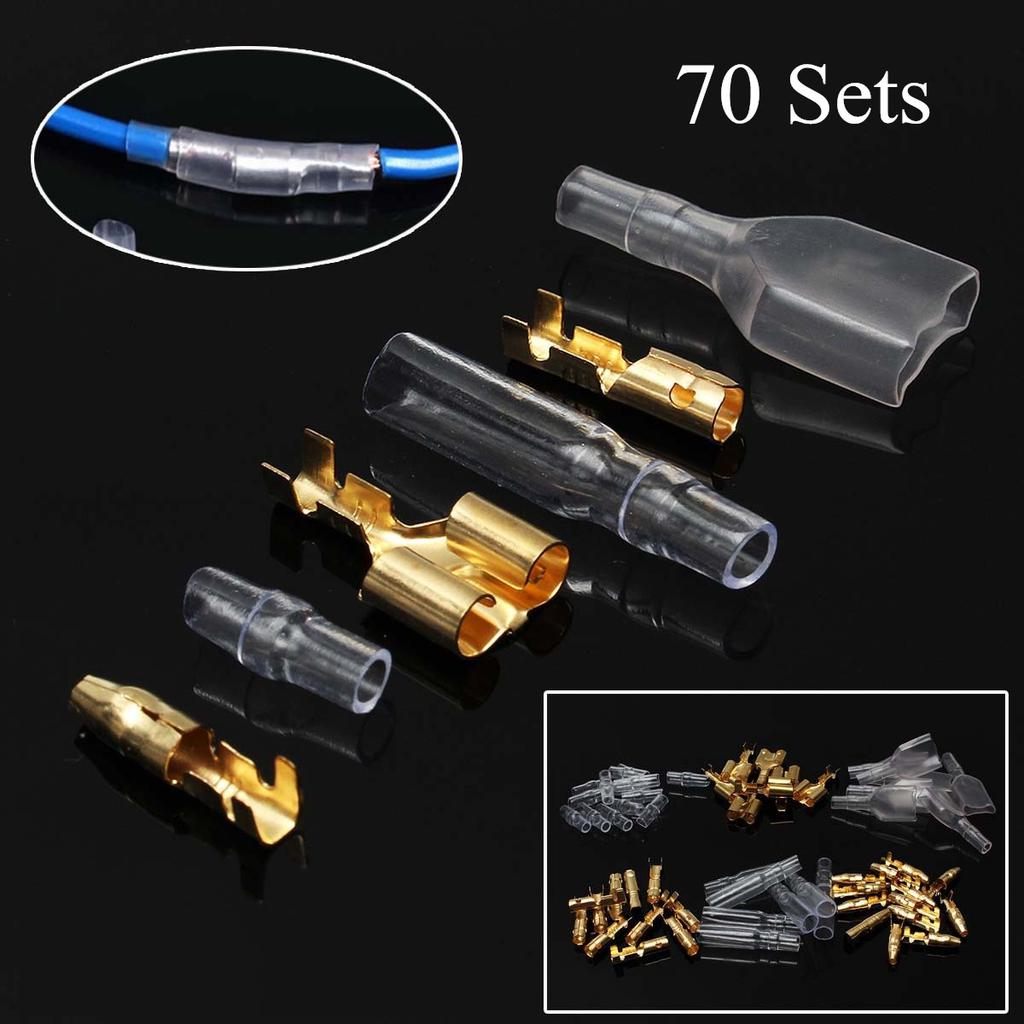 Japanese Motorcycle Bullet Terminal 3.9mm Double Female with Sleeves 5 Sets