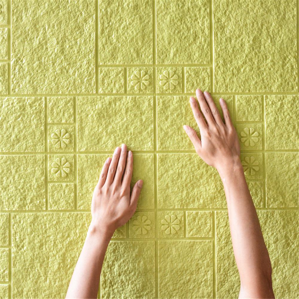 Modern 3D Print Embossed Stripe Bricks Stone Wallpaper New Home wall Decor