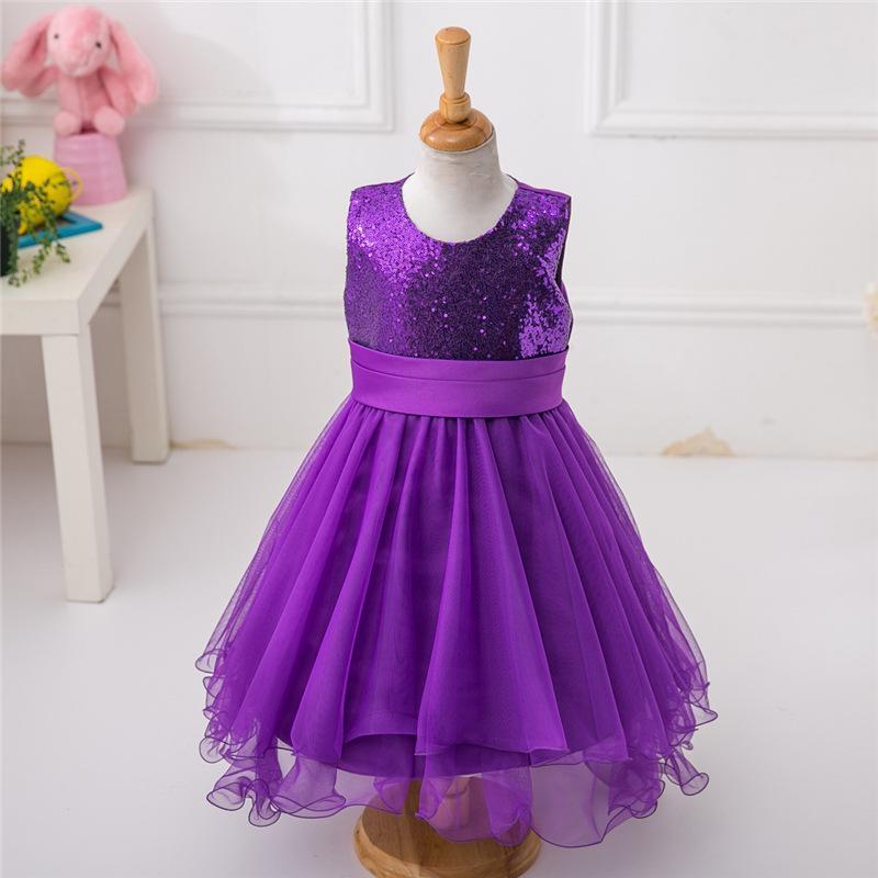 Muchacha faldas de lentejuelas para cumpleaños que infantiles ropa ...