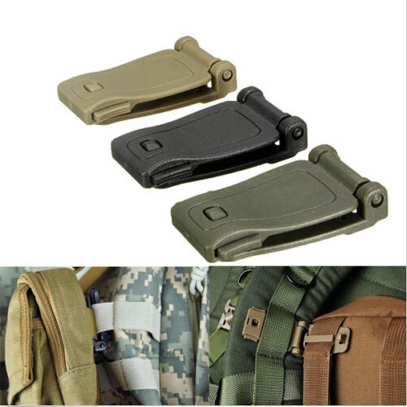 5pcs backpack carabiner buckle clip strap edc molle webbing connecting bucklesZP