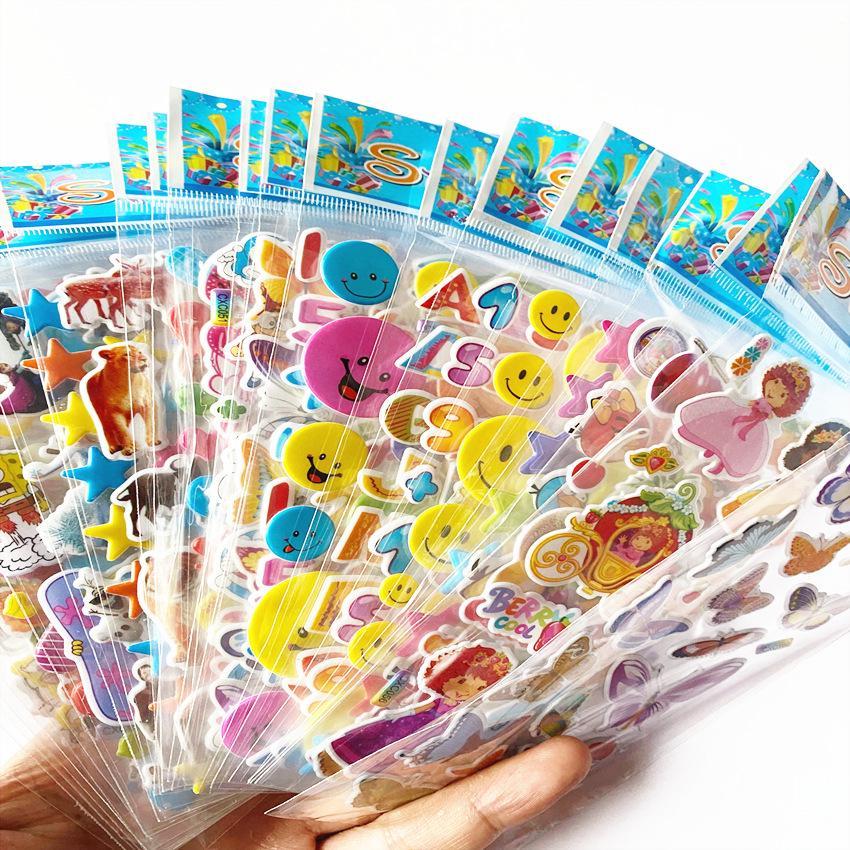 DIY Kawaii 3D Bubble Stickers Kawaii Cartoon Animal Sticker T2R1 R2Q3 Kids L4D3