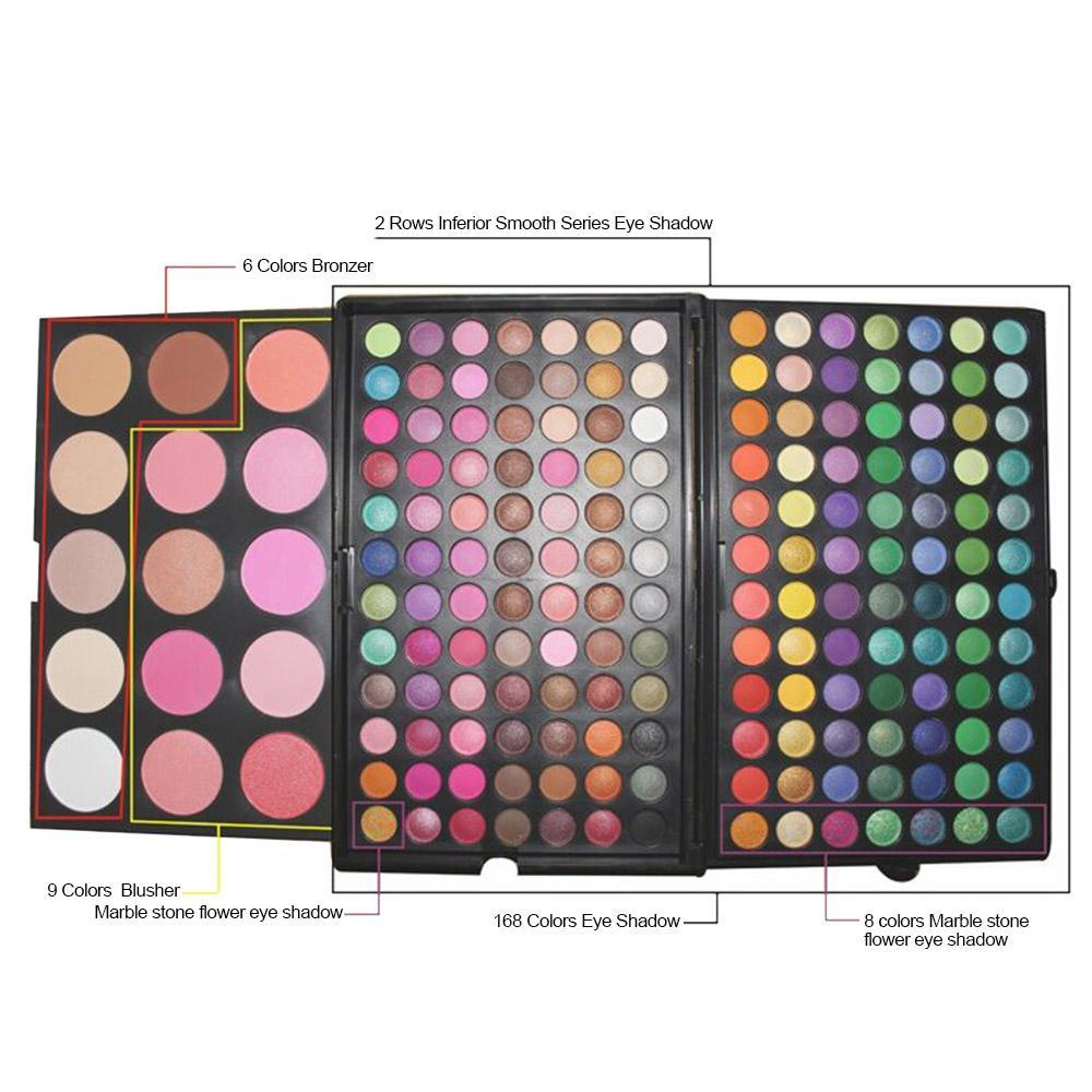183 Colors Combo 3 Layers Makeup Palette Kit 168 Eyeshadow15 Color