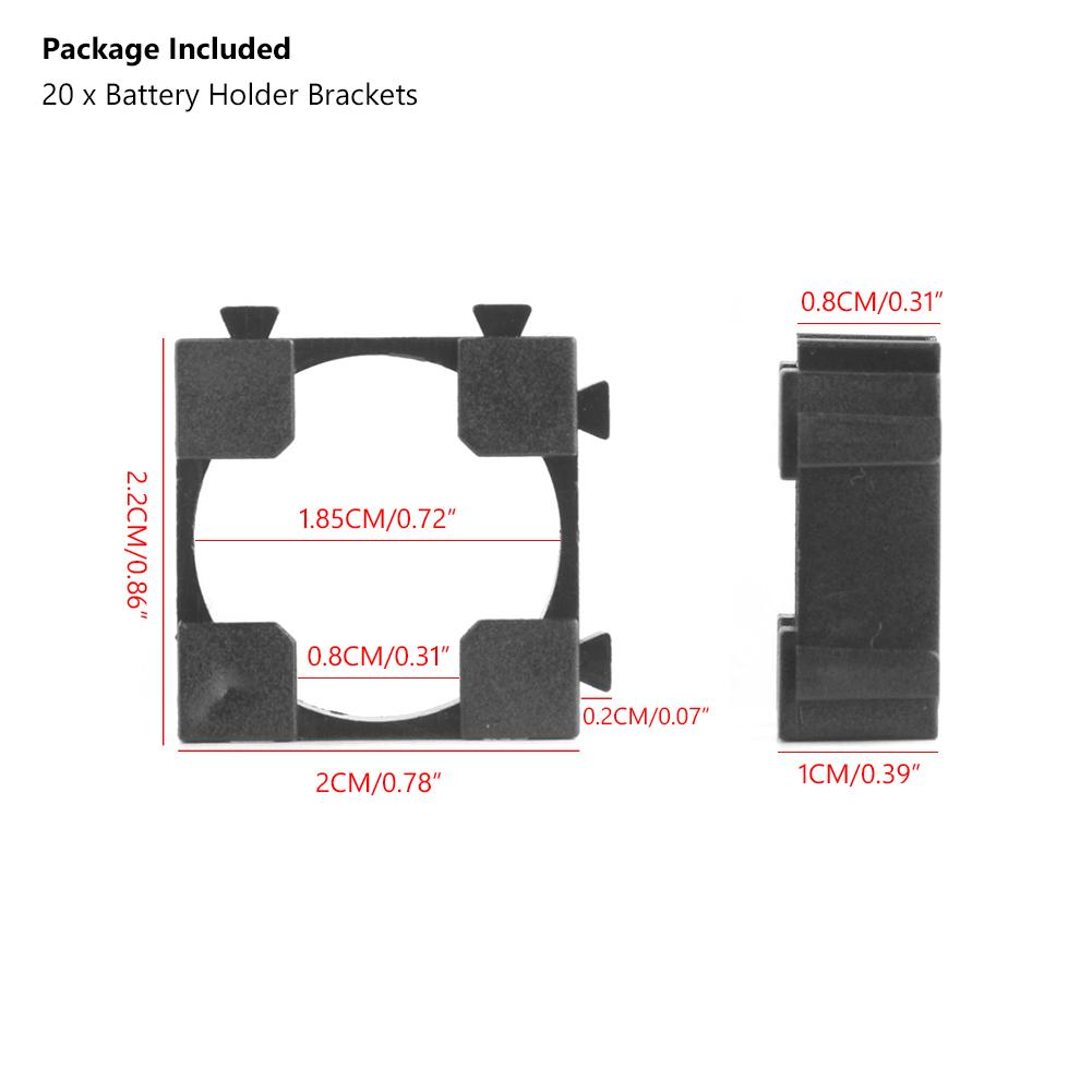 20x 18650 Batterienhalter Abstandshalter Bracket Li-Ion Akku Batterie Halterung